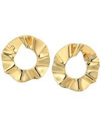 Kate Spade - Metallic Frilled To Pieces Bipass Hoop Earrings - Lyst