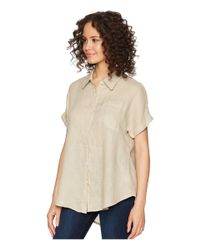 Allen Allen - Natural Short Sleeve Camp Shirt - Lyst