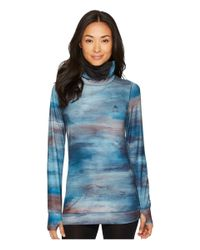 Burton - Blue Midweight Long Neck (jaded Sedona) Women's Long Sleeve Pullover - Lyst