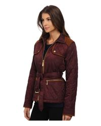 Vince Camuto | Purple Belted Quilted Jacket J8021 | Lyst