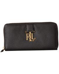 Lauren by Ralph Lauren - Black Carrington Zip Wallet - Lyst