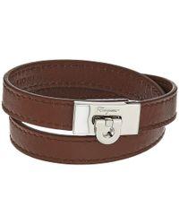 Ferragamo - Brown Gancio Bracelet - Lyst