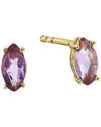 Shashi - Multicolor Casey Stud Earrings (gold Moonstone) Earring - Lyst
