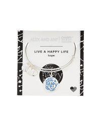 ALEX AND ANI - Multicolor Charity By Design Live A Happy Life Bangle - Joe Andruzzi Foundation - Lyst