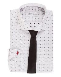 Robert Graham Maldon Dress Shirt (white/black) Men's Long Sleeve Button Up for men