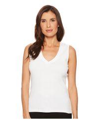 Lilla P - White V-neck Tank Top (navy) Women's Sleeveless - Lyst