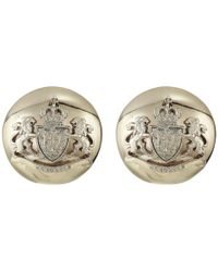 Lauren by Ralph Lauren - Metallic Crest Clip Button Earrings (gold) Earring - Lyst
