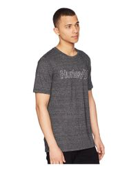 Hurley Gray One & Only Outline Tri-blend for men
