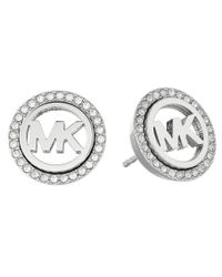 Michael Kors - Metallic Pave Stud Earrings - Lyst