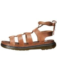 Dr. Martens - Brown Kristina Ghillie Sandal (tan Polished Oily Illusion) Women's Sandals - Lyst