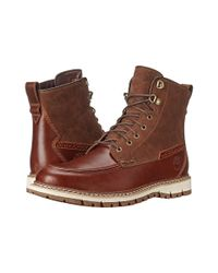 Timberland Brown Britton Hill Waterproof Moc Toe Boot for men