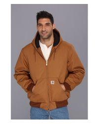 Carhartt | Brown Qfl Duck Active Jacket for Men | Lyst