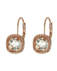 The Sak | Pink Cushion Stone Leverback Earrings | Lyst