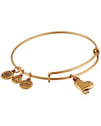 ALEX AND ANI | Metallic Cupid's Heart Charm Bangle | Lyst