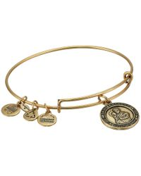 ALEX AND ANI | Metallic Saint Anthony Charm Bangle | Lyst