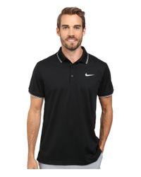Nike - Black Court Polo for Men - Lyst