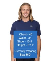 Hurley - Blue Dri-fit Icon S/s Surf Shirt for Men - Lyst