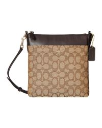 COACH   Natural Signature North/south Swingpack   Lyst