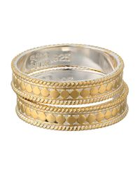 Anna Beck | Metallic Set Of 2 Stacking Band Rings | Lyst