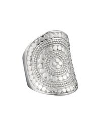 Anna Beck - Metallic Beaded Saddle Ring - Lyst
