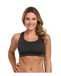 Champion | Black Double Dry® Seamless Racer-back Sports Bra | Lyst