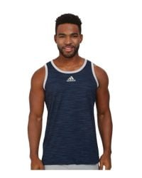 Adidas Originals | Blue Heathered Tank for Men | Lyst