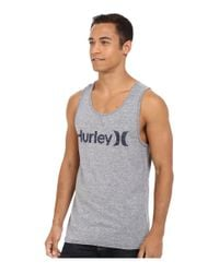 Hurley - Gray One & Only Tri-blend Tank for Men - Lyst