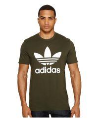 Adidas Originals   Green Originals Trefoil Tee for Men   Lyst