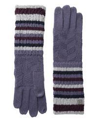 Smartwool - Natural Striped Chevron Glove - Lyst