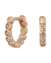 Vince Camuto - Pink Studded Mini Hinge Huggie Earrings - Lyst