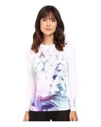 686 | White Tech Long Sleeve Shirt | Lyst