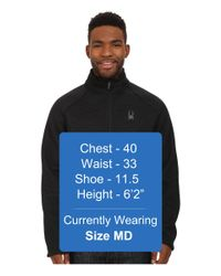 Spyder | Black Pitch Half Zip Heavy Weight Core Sweater for Men | Lyst