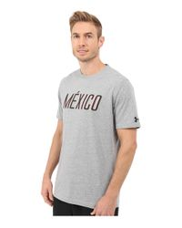 Under Armour - Multicolor Mexico Country Pride Tri-blend Short Sleeve Tee for Men - Lyst