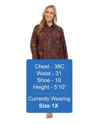 Lauren by Ralph Lauren | Multicolor Plus Size Flannel Sleepshirt | Lyst