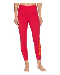 PUMA - Red Style Swagger 3/4 Leggings - Lyst