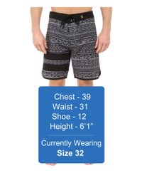 "Hurley - Gray Phantom Block Party Cryptik 19"" Boardshorts for Men - Lyst"