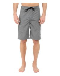 "Hurley - Black Heathered One & Only 22"" Boardshorts for Men - Lyst"