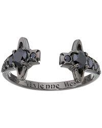 Vivienne Westwood | Black Reina Ring | Lyst