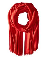 Pendleton | Red Luxe Weave Wool Scarf | Lyst