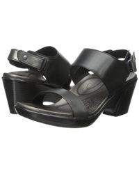 Aetrex | Black Peyton Wedge Sandal | Lyst