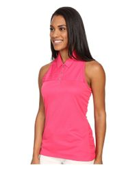 Adidas Originals - Pink Tour Climachill Sleeveless Polo - Lyst