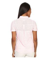 Adidas Originals - Pink Cottonhand Stripe Polo - Lyst
