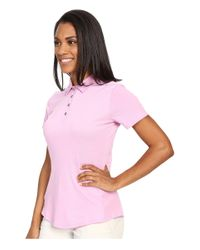 Adidas Originals - Pink Essentials Heather Short Sleeve Polo - Lyst