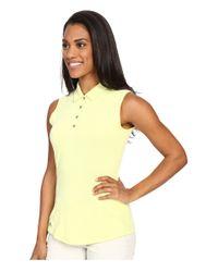 Adidas Originals - Yellow Essentials Heather Sleeveless Polo - Lyst