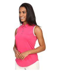 Adidas Originals - Pink Essentials 3-stripe Sleeve Polo - Lyst