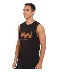 Billabong - Black Team Wave Distress Muscle Tank Top for Men - Lyst