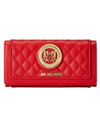Love Moschino - Red Quilted Wallet - Lyst