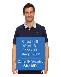 PUMA - Blue Short Sleeve Dynamic Vent Polo for Men - Lyst