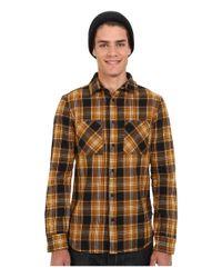Altamont - Black Binary Long Sleeve Flannel for Men - Lyst