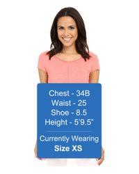 Mod-o-doc - Slub Jersey Side Shirred V-neck Tunic - Lyst